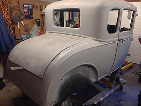 Rear of a 1931 Ford 5 Window Coupe