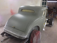 1934 Ford coupe etch primer applied