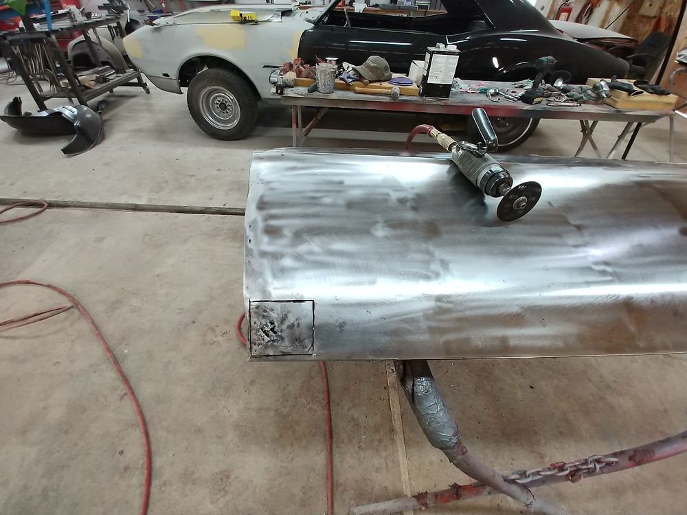 rust removal on car door