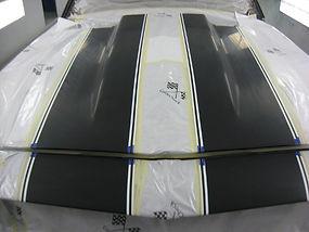 Masking Camaro for Rallye Stripes