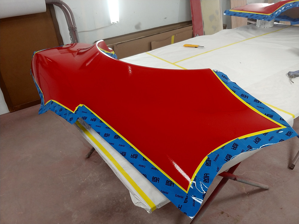 Flange along the edge or quarter panel and sprayed with release agent