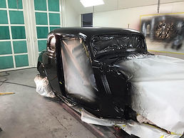 1934 Ford Coupe freshly painted