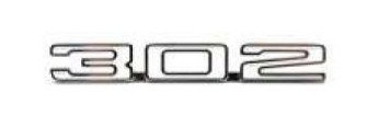 Cowl hood 302 emblem