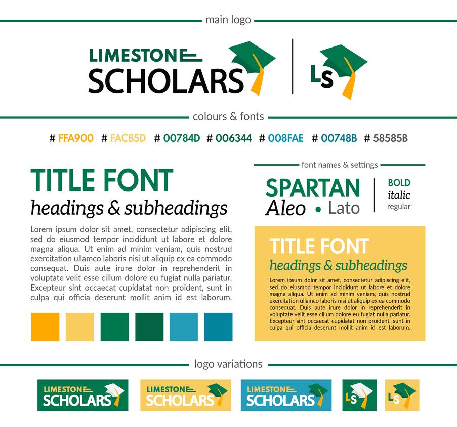 Limestone Scholars Branding Package