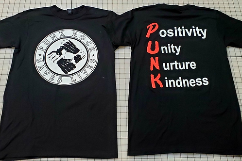 Punk Rock Saves Lives P.U.N.K. T-shirt