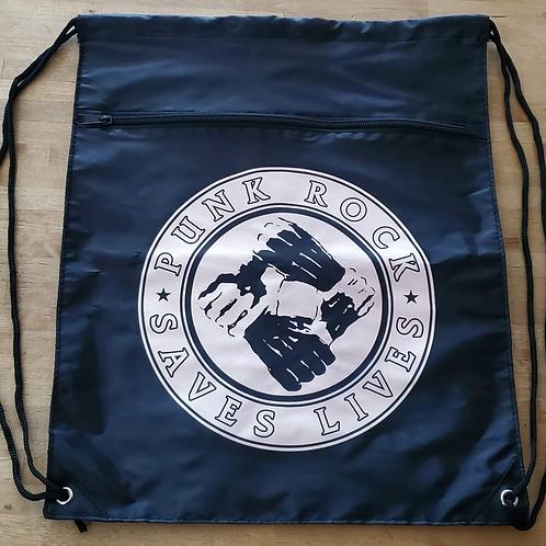 Punk Rock Saves Lives Backpack w/ Zipper Pocket