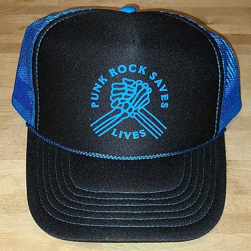 True Hand Unity Logo Blue Trucker Hat