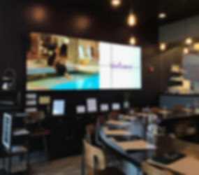 Enjoy your meal at Vanillamore with opportunity to watch our 6 screen video wall.