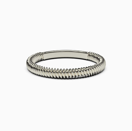 Argolla espiral plata.925