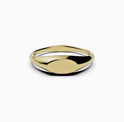 Signet Oval thin 14k