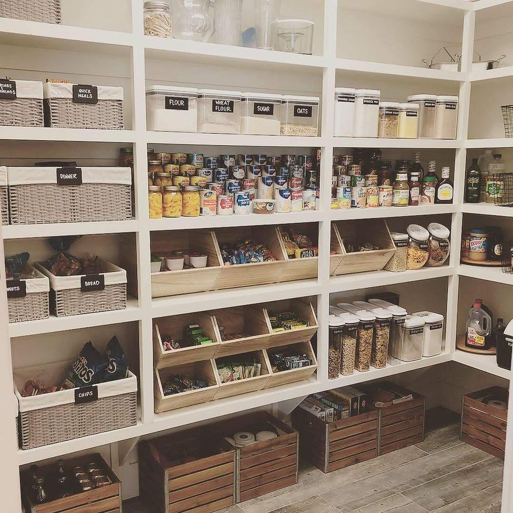 organized styled pantry