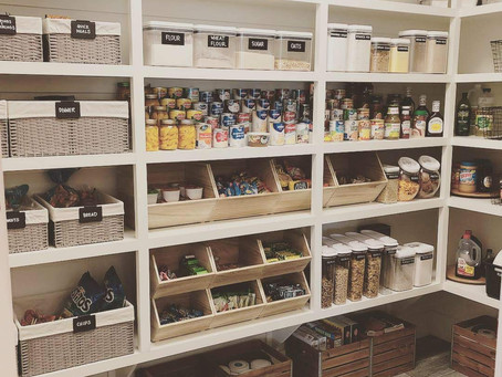 Pretty AND functional pantry