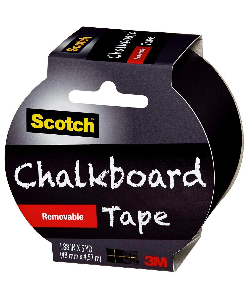 Chalkboard tape by Scotch used for pantry labels