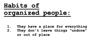 habits of organized people
