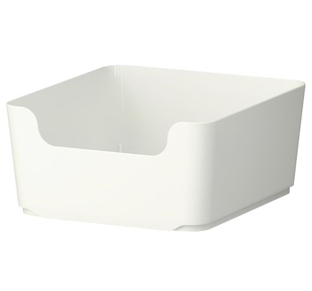white pantry bin