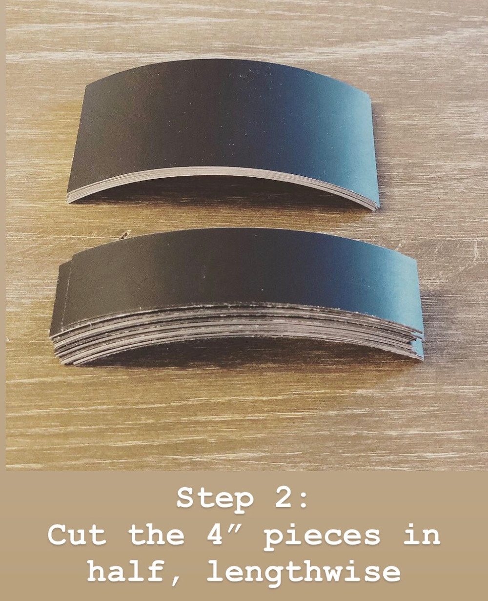 Cut Chalkboard tape down to size to get the best size labels for your project!