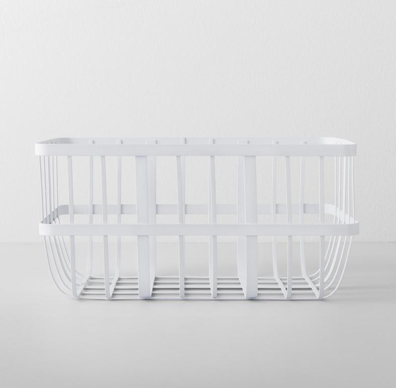 white pantry basket
