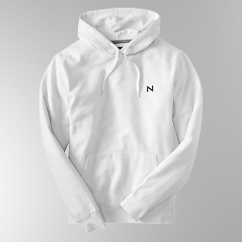 BOLD Black on White Hoodie