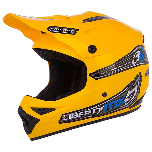 Capacete Protork Liberty Mx Amarelo