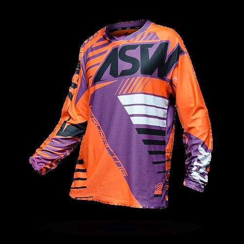 Camisa Asw Image Race 18 Laranja/Roxo