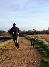 Ian & Harvey on a walk