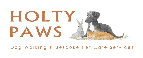 Holty Paws Company Logo, Painting of dog, rabbit, cat