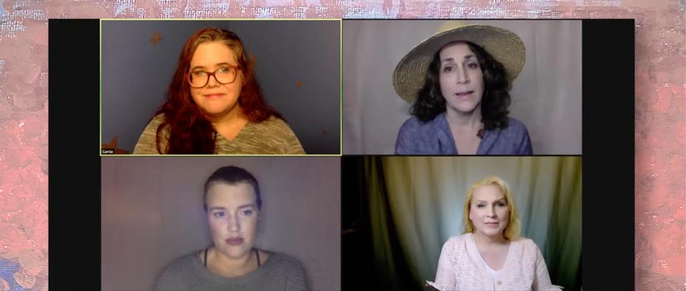 The women discuss.
