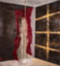 The Descent, 66x60_, Oil, acrylic, gauze