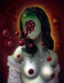 crescent, seo, illustration, art, painting, dark, lady
