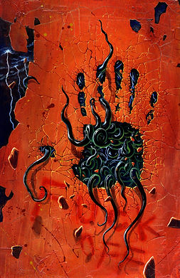 crescent, seo, illustration, seven, deadly, sins, the wrath, painting, art