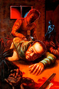 crescent, seo, illustration, art, painting, artist, painter, story, illust, exhibition, crime, punishment, crime and punishment
