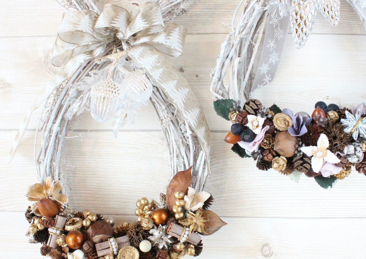 Shining nuts wreath