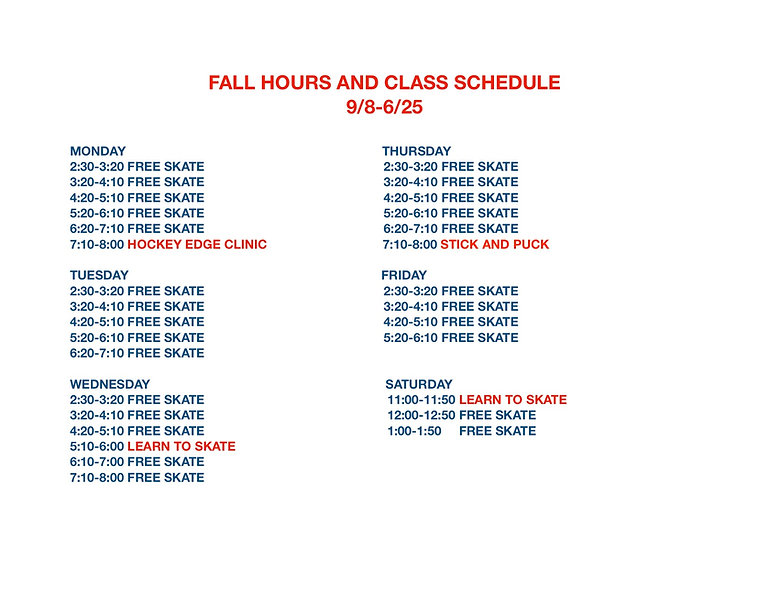 FALL HOURS AND CLASS SCHEDULE.jpg