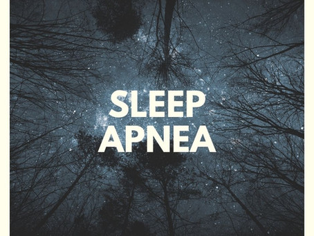 Let's talk about sleep apnea...