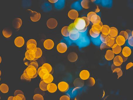 Blue lights, amber glow...