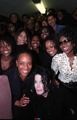 Michael Jackson & Uri Geller on the Royal Train