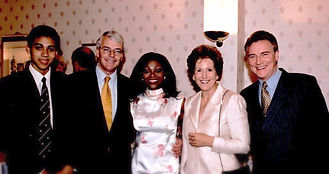 Sebastian Komlosy, The Rt. Hon. Sir John Major KG CH, Patti Boulaye, Dame Norma, Stephen Komlosy.