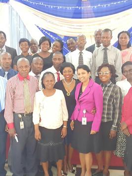 With Teachers & Staff of Vivian Fowler Memorial School Lagos