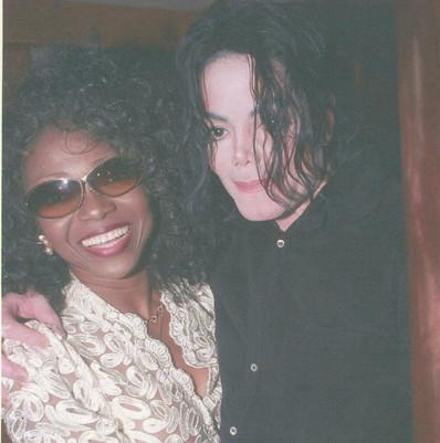 Patti Boulaye and Michael Jackson