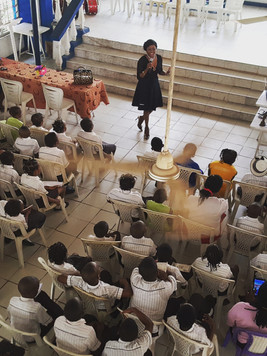 Lecturing at ST&T REGENCY School Lagos