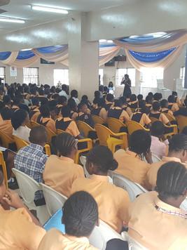 Lecturing at Vivian Fowler Memorial School Lagos