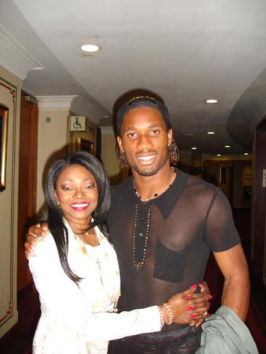 Didier Drogba & Patti Boulaye