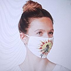 Patti Boulaye Sun Dance Facemask