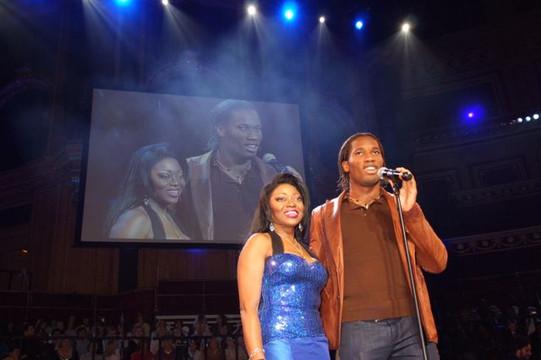 Didier & Patti at the Royal Albert Hall.