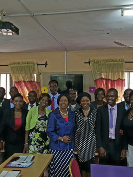 With Teachers of ST&T REGENCY School Lagos