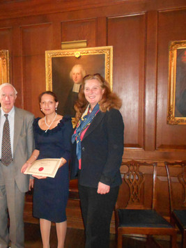 Lord Cotter & HRH Princess Katarina Bipada Certification at Oxford University