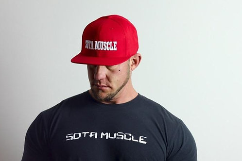 Red Snap-Back with White Stitching