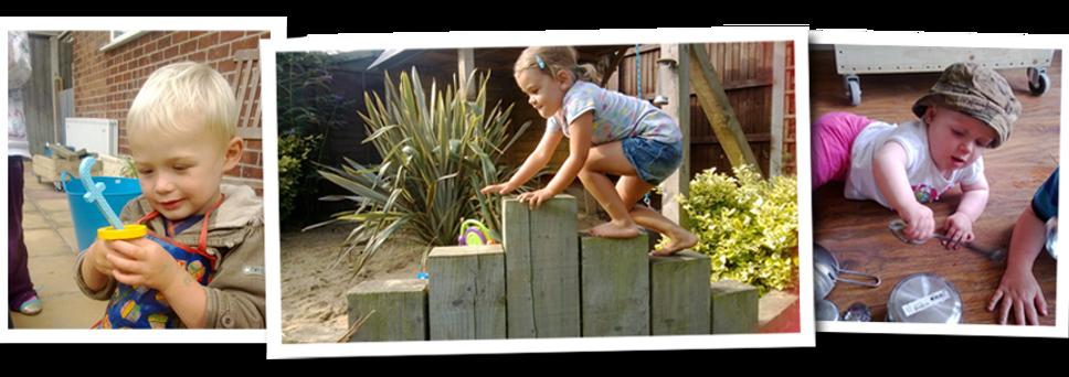 child playing, garden, exploring, climbing