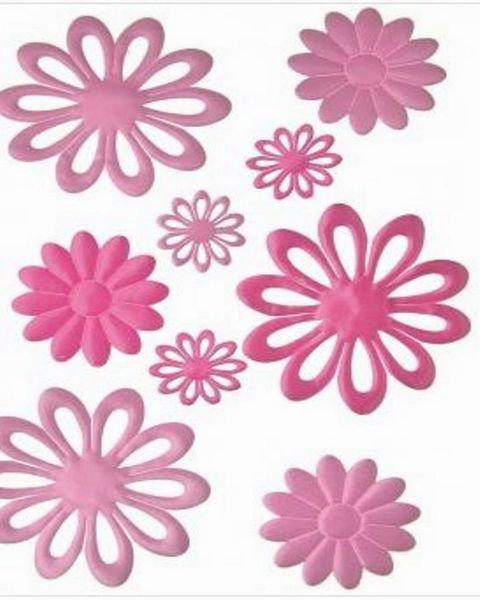 FABRIC PUFFED FLOWERS (10) - PINKS - CO-ORDINATIONS RANGE