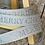 Thumbnail: LIGHT GREY AND SILVER MERRY CHRISTMAS RIBBON - 15MM